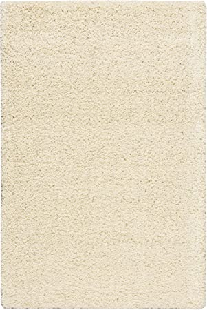 Rug Squared Bay Hill Shag Area Rug 3 Feet 11 Inches By 5 Feet 11 Inches Cream Furniture Decor