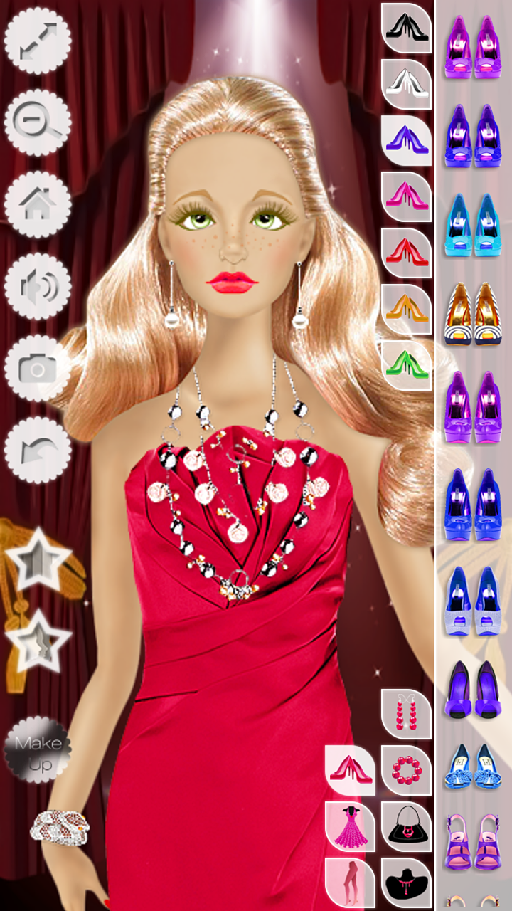 Barbie Doll Makeup Hairstyle amp Dress Up Fashion Top Model