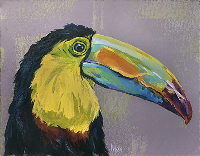Amazon.com: Toucan painting, Giclee Fine art Print, Exotic Tropical ...