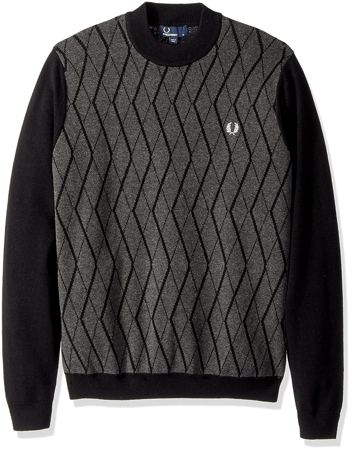 Fred Perry Men's Tonal Turtle Neck Jumper K3505