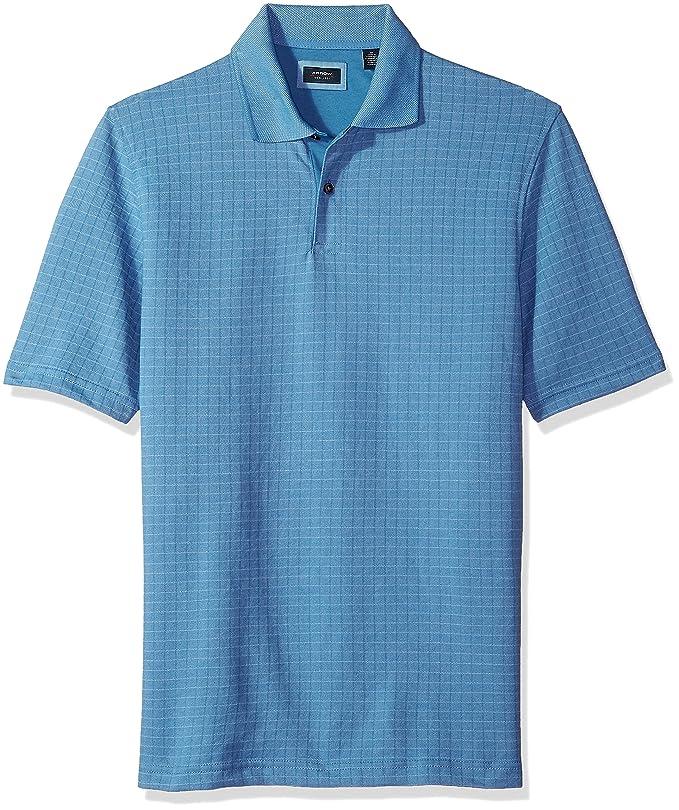 834ecc70 Arrow Men's Big and Tall Short Sleeve Jacquard Polo Shirt at Amazon Men's  Clothing store: