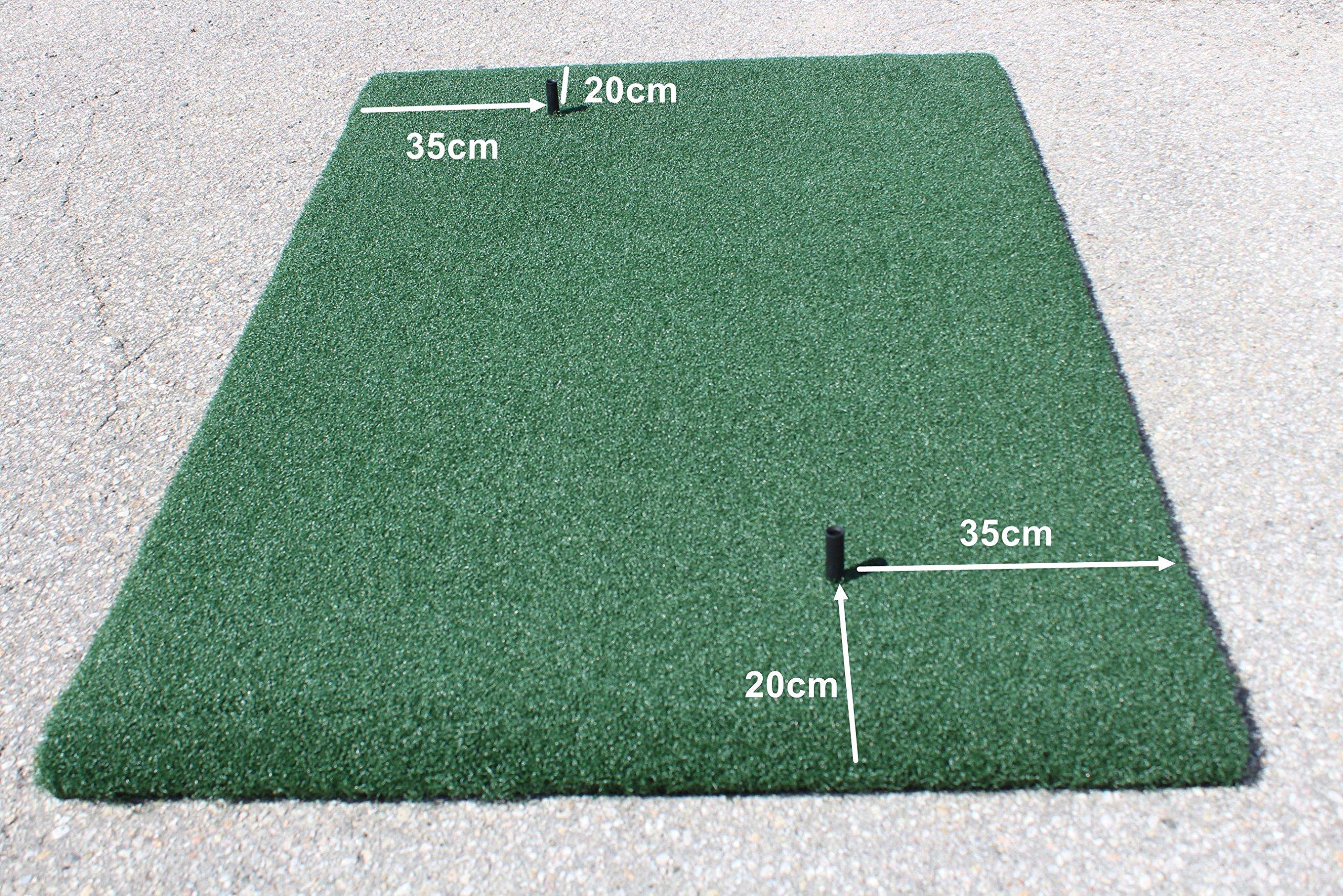 Golf Range True Feel Super Thick mat Golf Chipping Driving Practice Mat 59 x 39 1/2 x1 1/4'' by A99 Golf (Image #5)