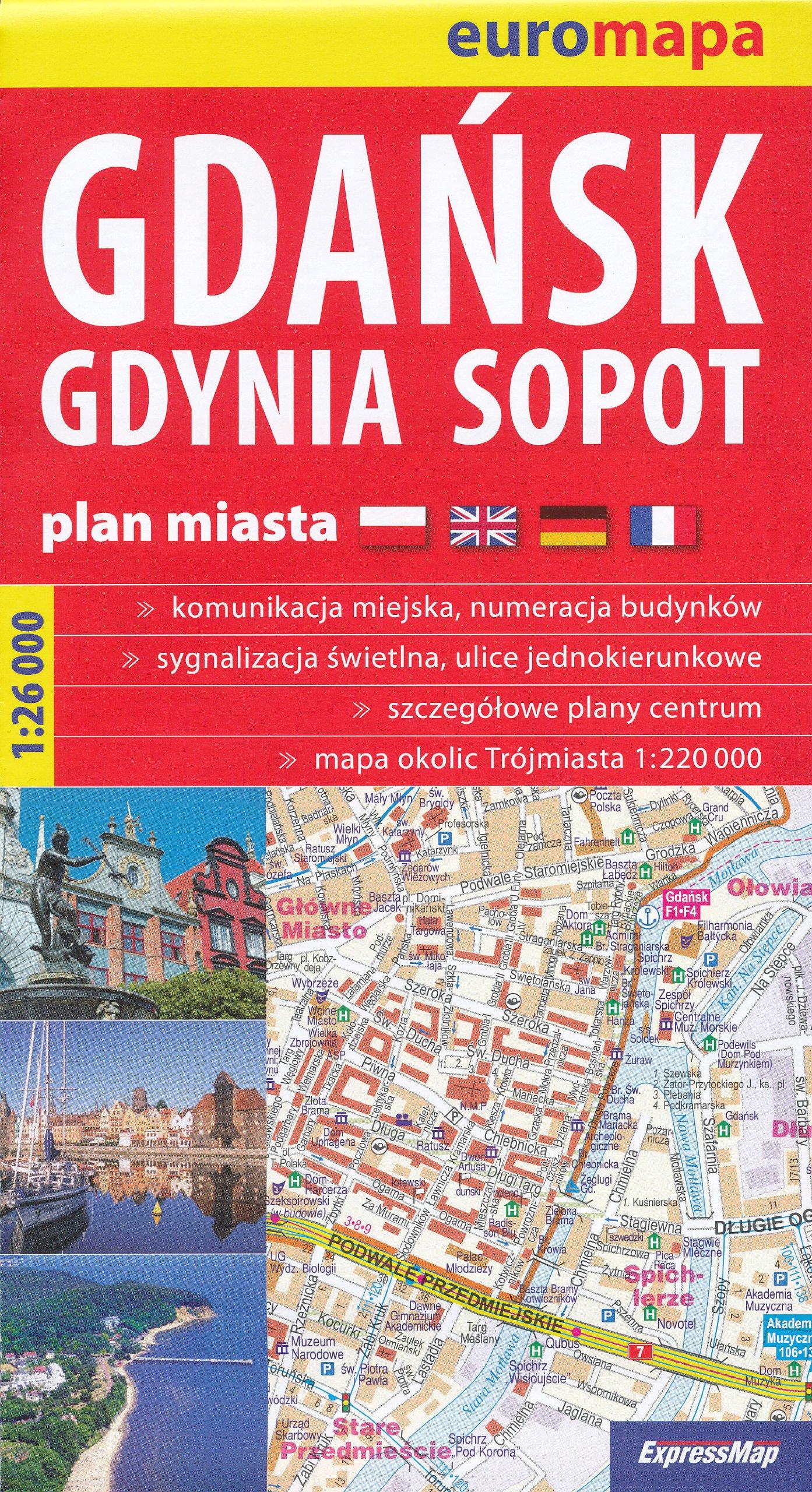Gdansk Gdynia Sopot Poland 126 000 Large Street Map