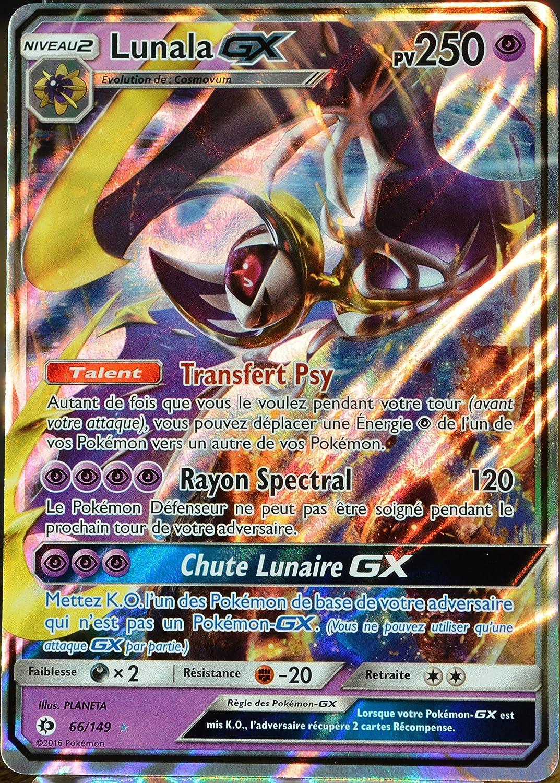 carte pokemon lunala gx Pokémon Trading Card Game Lunala GX 250pv 66/149 Soleil et Lune
