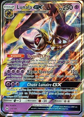 Carte Pokémon 66 149 Lunala Gx 250 Pv Amazon Fr Jeux Et Jouets