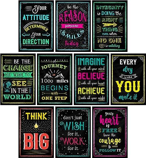 Amazon Com Posters Motivacionales Para Decoración De Aulas
