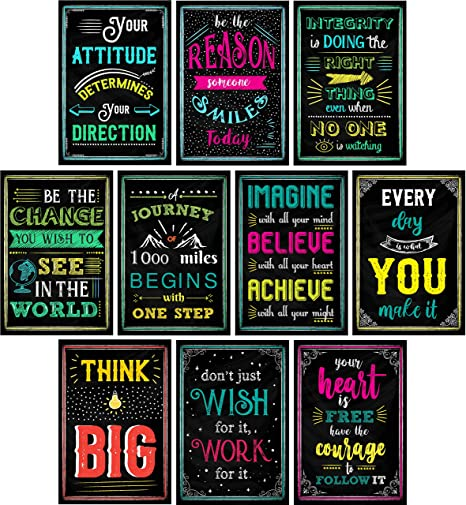 Motivational Posters For Classroom Office Decorations Inspirational Quote Wall Art For Teachers Students School Counselors Home Office Set
