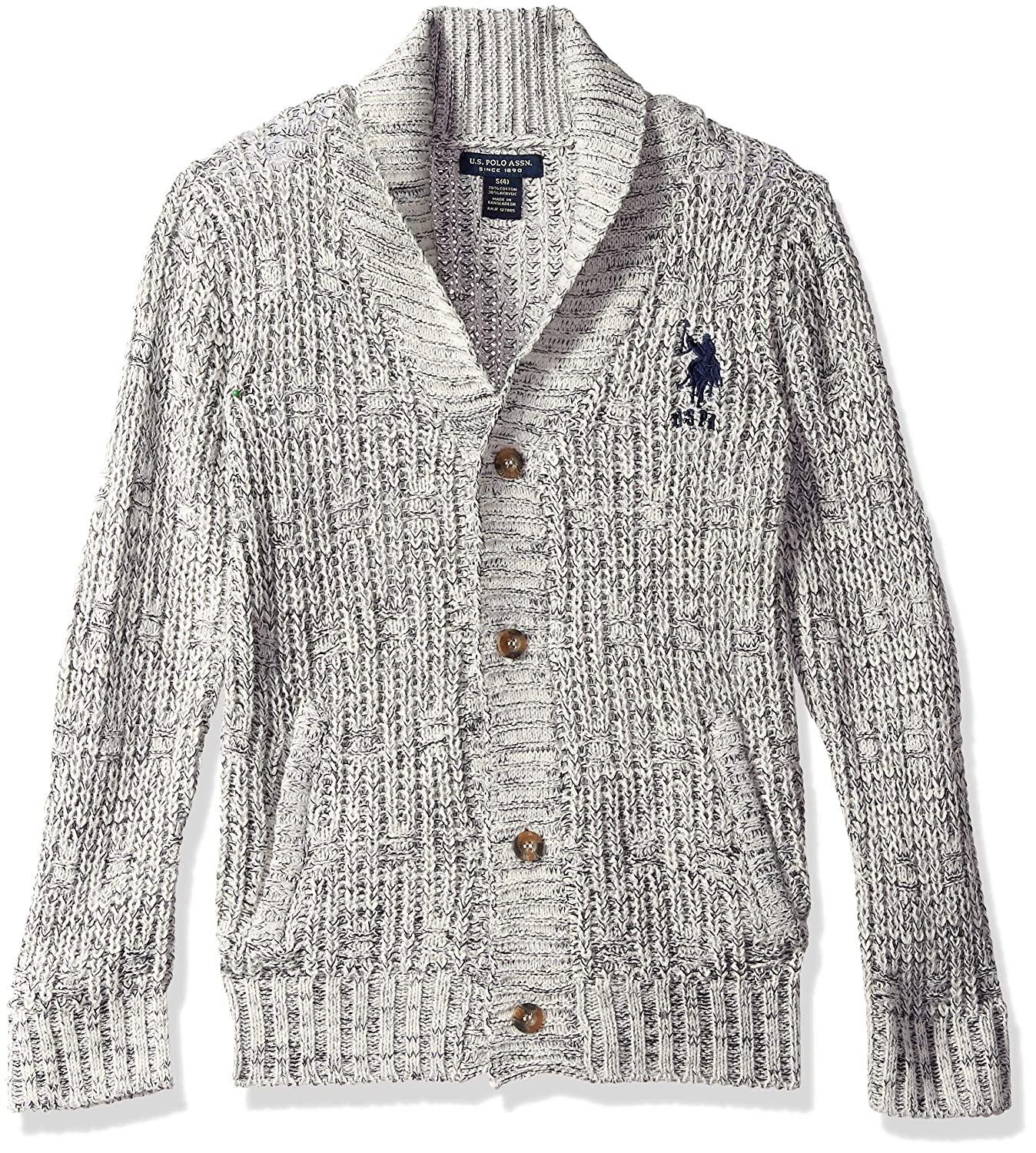 U.S. Polo Assn. Boys' Cardigan Sweater,