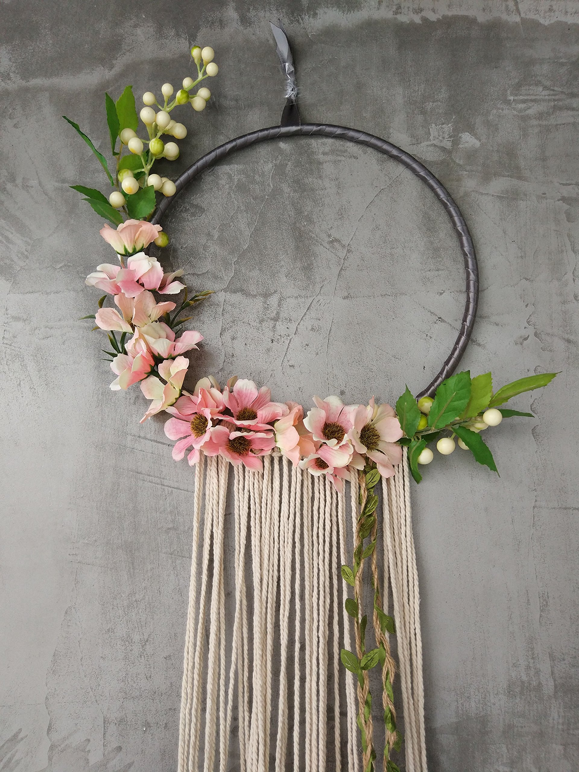 long beautiful rosy red tassels dream catcher Indian style home decoration