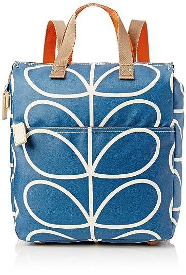 9da3653d51ae Orla Kiely Women s Giant Linear Stem Backpack Backpack Handbag Blue  (Marine)  Amazon.co.uk  Shoes   Bags