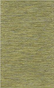Fab Habitat Reversible Cotton Area Rugs | Rugs for Living Room, Bathroom Rug, Kitchen Rug | Machine Washable | Cancun - Lemon & Apple Green | 4' x 6'