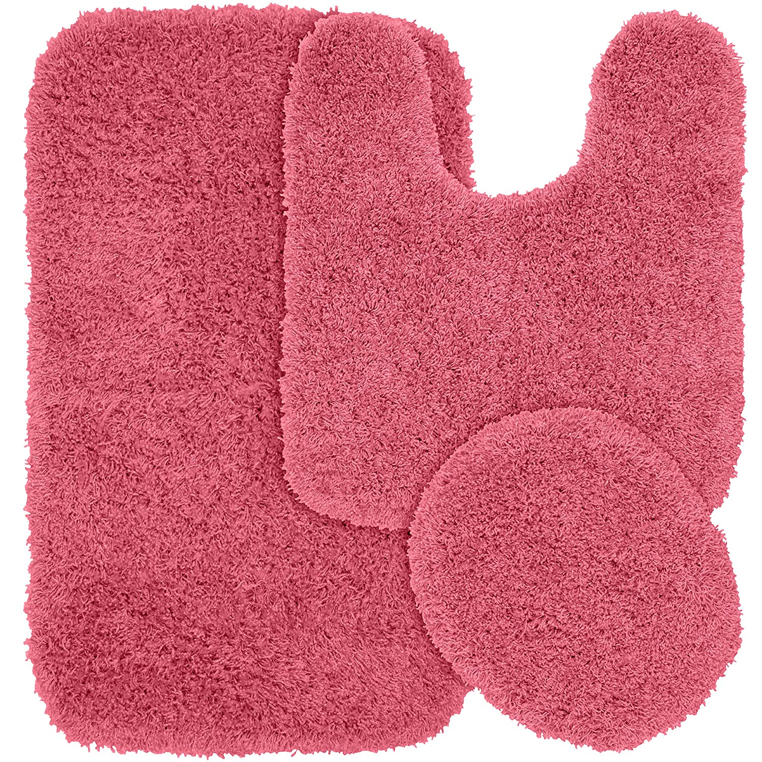 dark pink bathroom bath piece gray rug rugs set