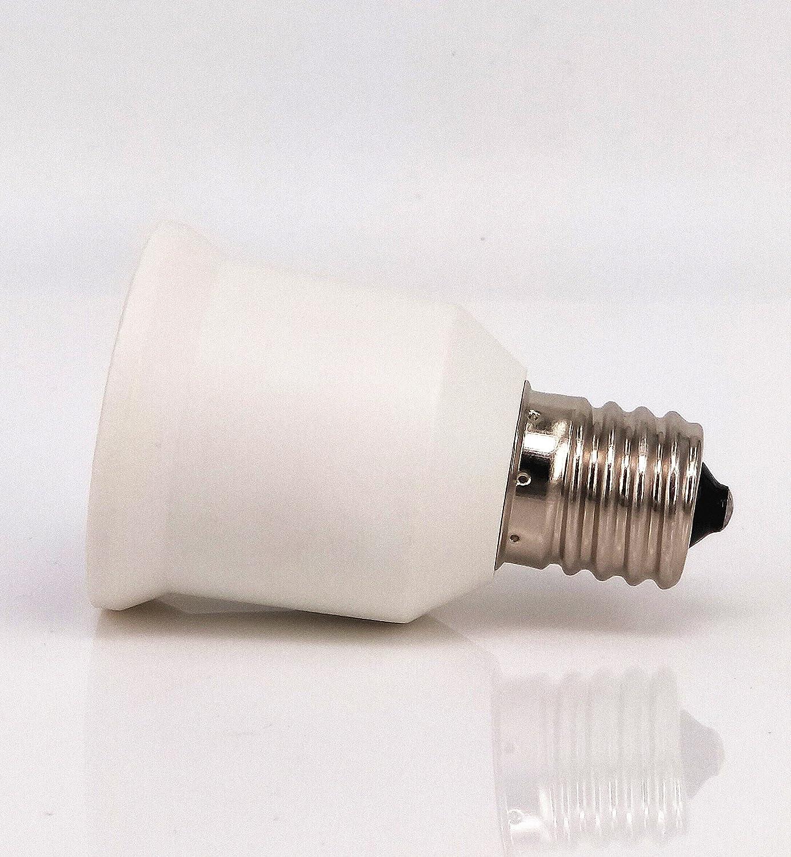 8pcs E17 to E26 Lamp Bulb Base Socket Lamp Holder Converter Adapter for Lamp Converter LED Lamp Socket Adapter