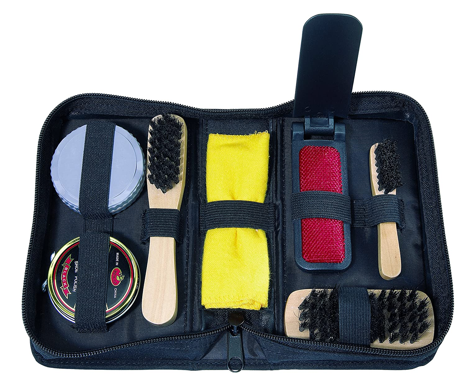 7Piece Shoe Shine Kit in Case Including Cream and 3brushes geschenkartikel-shopping SWITCH!