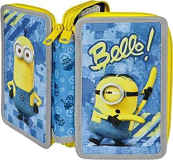 Scooli MNRS0433 Minions - Estuche escolar de doble capa: Amazon.es: Juguetes y juegos