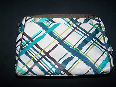 f5a87aeee9 Amazon.com  Thirty-one Cosmetic BAG SET (2 Bags) SEA Plaid  Shoes
