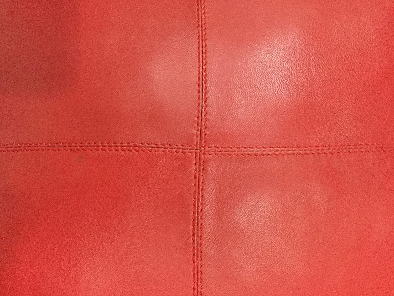 LEATHER FARMS Thick genuine Leather Pillow Cover RED Decorative For Couch Throw Pillow Case RED Leather Cushion Cover Solid Color 18x18