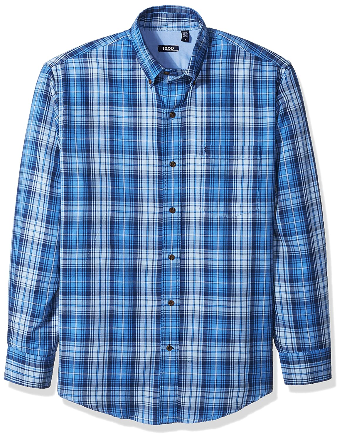 Izod Men's Long Sleeve Twill Easy-Care Plaid Shirt 82FW591