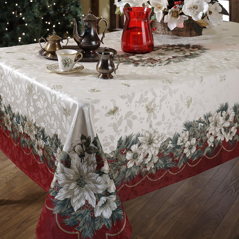 Amazon.com: Benson Mills Christmas Noel Printed Tablecloth, size 60 ...