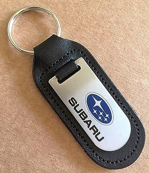 Genuine Leather Keyring Keyfob Subaru Keyring
