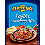 Ortega Seasoning Mix, Reduced Sodium Fajita, 1.25 Ounce (Pack of 12)