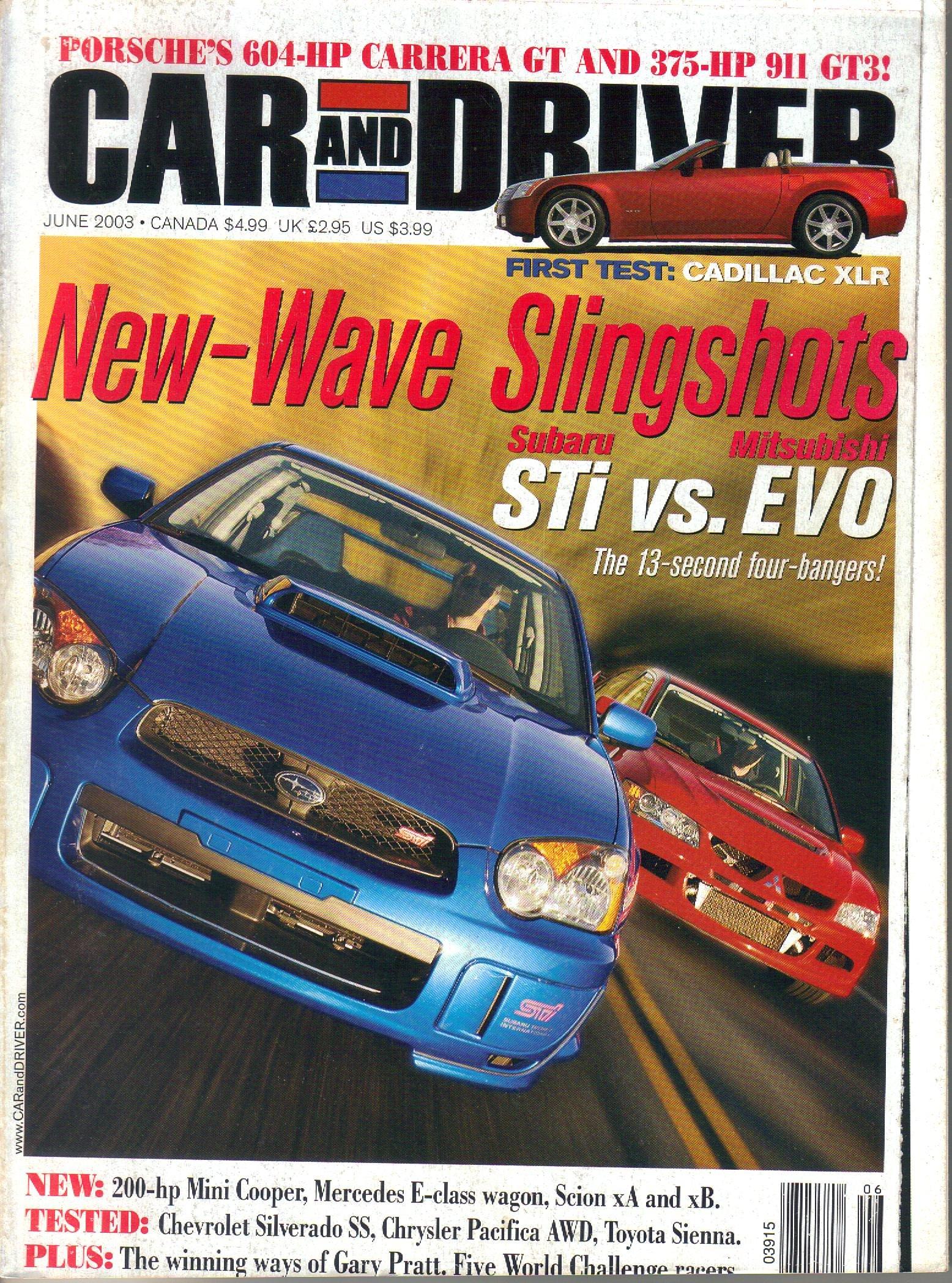 Car & Driver Magazine June 2003 - Ne Wave Slingshots (Vol 48