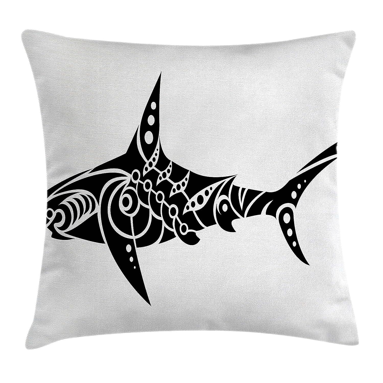Lunarable Funda de cojín con diseño de Tatuaje de tiburón en ...