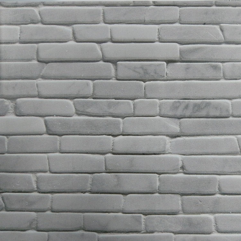 Dumapan - Juego de 4 paneles de pared para baldosas de salamanca, PVC, efecto 3D, color gris: Amazon.es: Hogar
