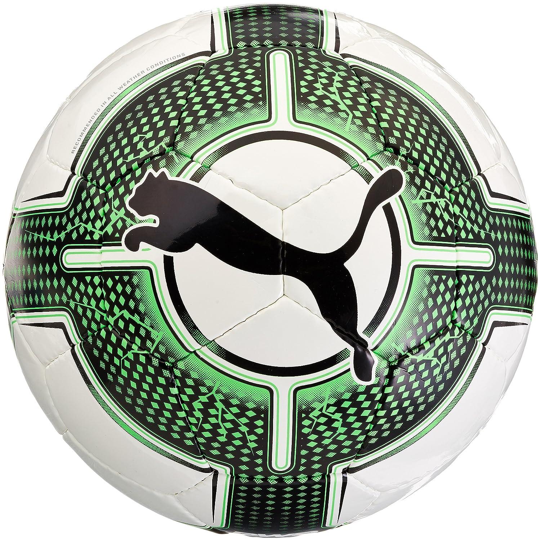 Bal/ón de f/útbol Sala Puma Evopower 1.3 Calidad FIFA en Blanco y Verde con Dibujo de Escamas