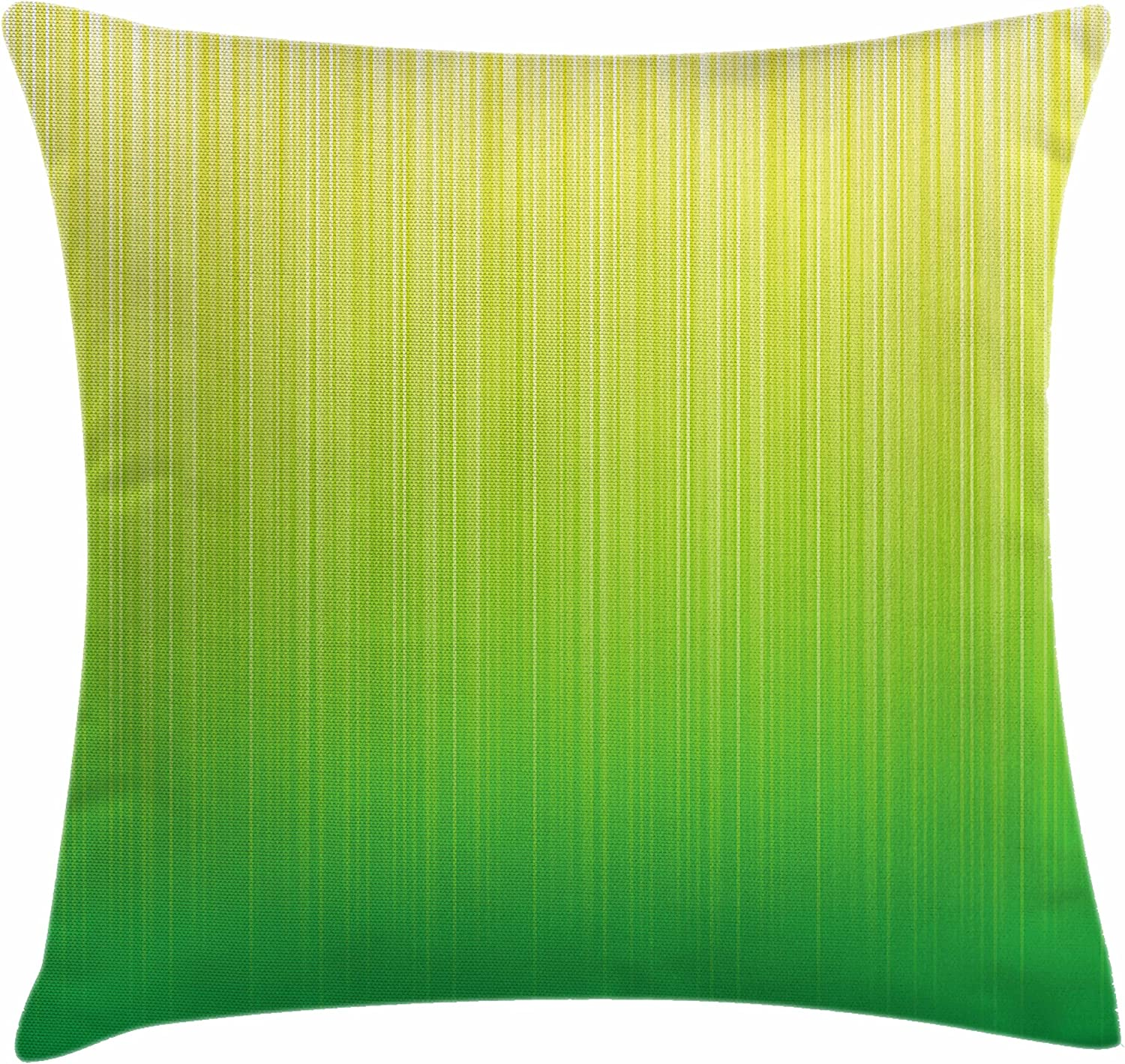 Ambesonne Lime Green Throw Pillow Cushion Cover Pin Striped Digital Background Highlight Lines Abstract Style Futuristic Print Decorative Square Accent Pillow Case 28 X 28 Pale Green Home Kitchen