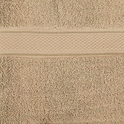 Pinzon by Amazon - Juego de toallas de algodón egipcio (2 toallas de baño y 2 toallas de manos), color beige: Amazon.es: Hogar