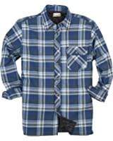 Wrangler Authentics Men's Long Sleeve Quilted Lined Flannel Shirt ...