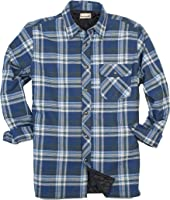 Wrangler Authentics Men&39s Long Sleeve Quilted Lined Flannel Shirt