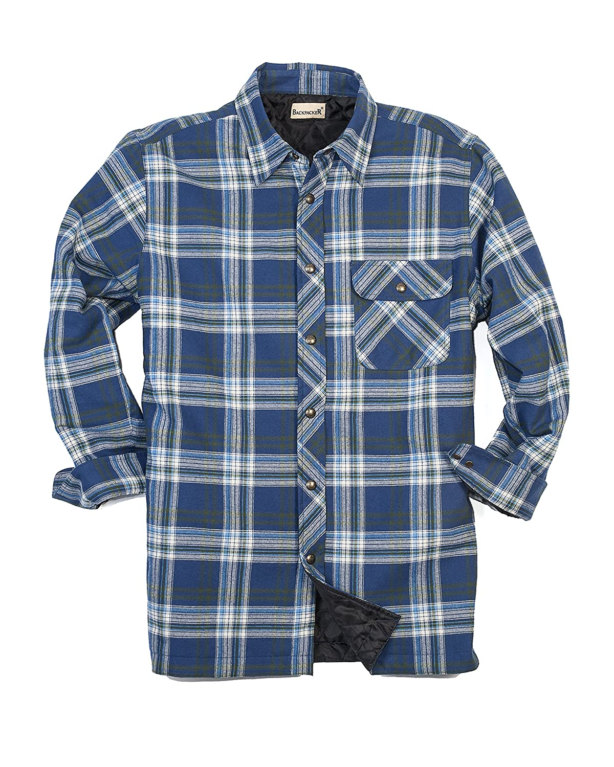 plaid quilted canada gaspe white black gasp products forcefield flannel front hi blackwhite vis quilt safety shirt