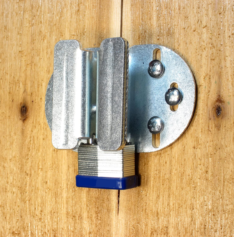 Padlock Protector Heavy Hasp and Handle (Zinc) - -