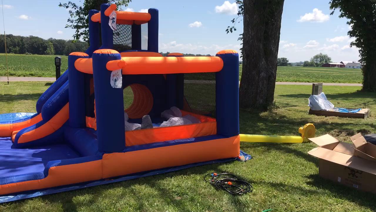 amazon com blast zone pirate bay inflatable combo water park and