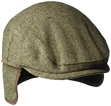 f3e0e38b09841 Country Gentleman Men s Ainsley Flat Ivy Cap with Ear Laps at Amazon ...