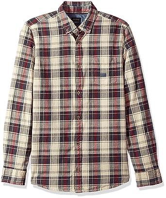 cc171aa4 Buffalo David Bitton Men's Sinter Long Sleeve Oxford Plaid Button Down Shirt