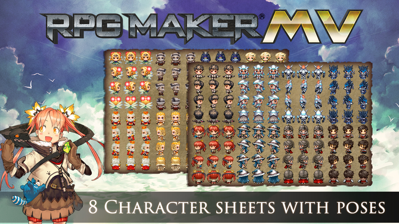RPG Maker MV DLC: Cover Art Characters Pack [Online Code]