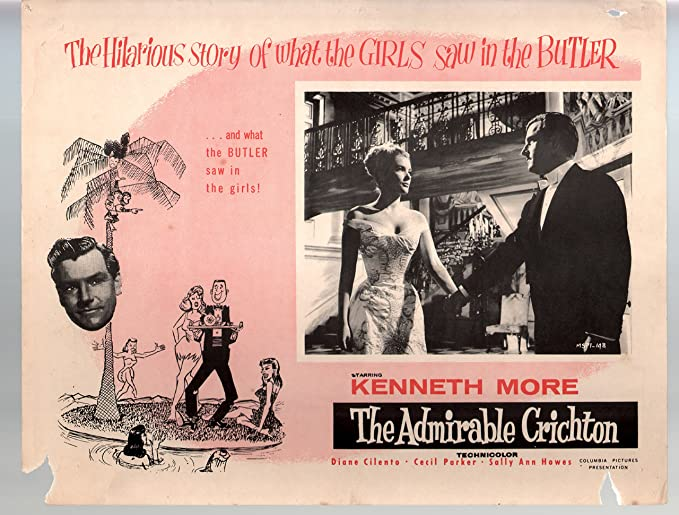 Amazon.com: MOVIE POSTER: Admirable Crichton-Kenneth More-11x14 ...