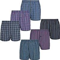 Mctam Herren Boxershorts Men 6er Pack Unterwäsche Unterhosen Männer American Klassisch Kariert 100% Baumwolle