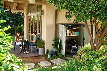 Keter - Cobertizo de jardín exterior Duotech Hight Store, Color gris