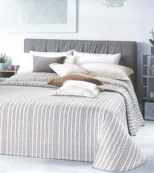 Manta de tejido jacquard de mezcla algodón teñida de hilo – matrimonio (2 plazas) – 260 x 260 cm – Dibujo Paloma ...