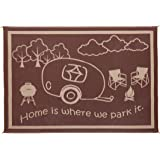 Stylish Camping RH8117 Brown/Beige 8'x11' RV Home Mat
