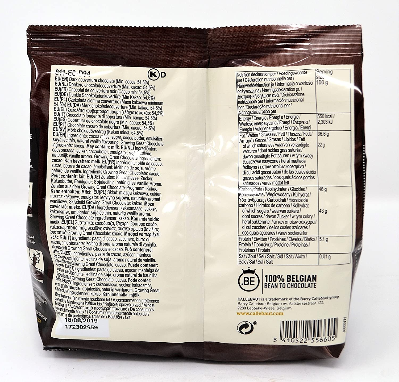 Callebaut 4 x 400g Bundle - Cobertura de Chocolate con Leche, Negro & Blanco Belga - Finest Belgian Chocolate (Callets) Lote de 4 x 400g: Amazon.es: ...