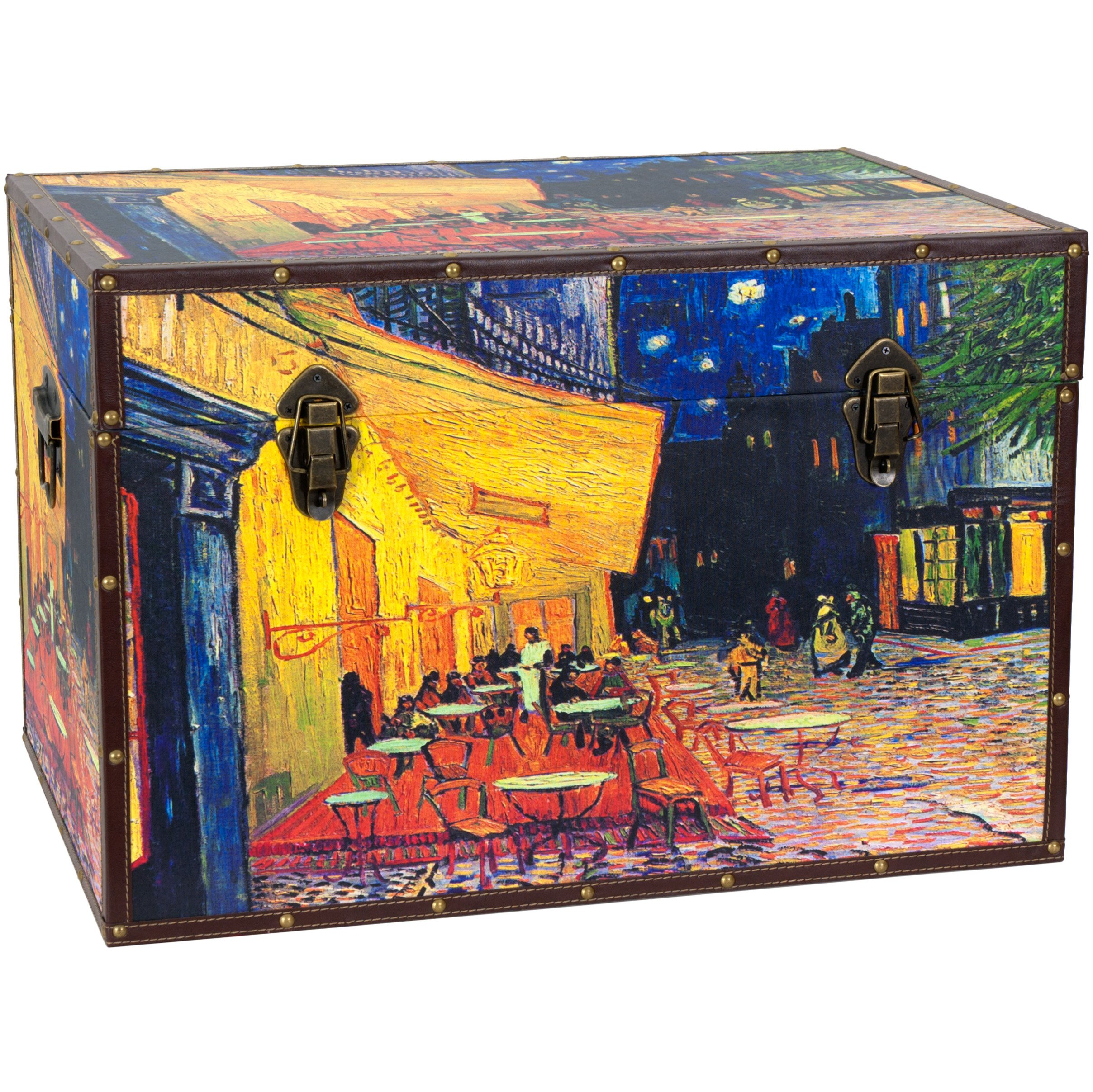 Oriental Furniture Van Gogh's Cafe Terrace Trunk by ORIENTAL FURNITURE (Image #1)