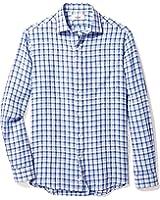 Buttoned Down Men's Classic Fit Spread-Collar Linen Sport Shirt