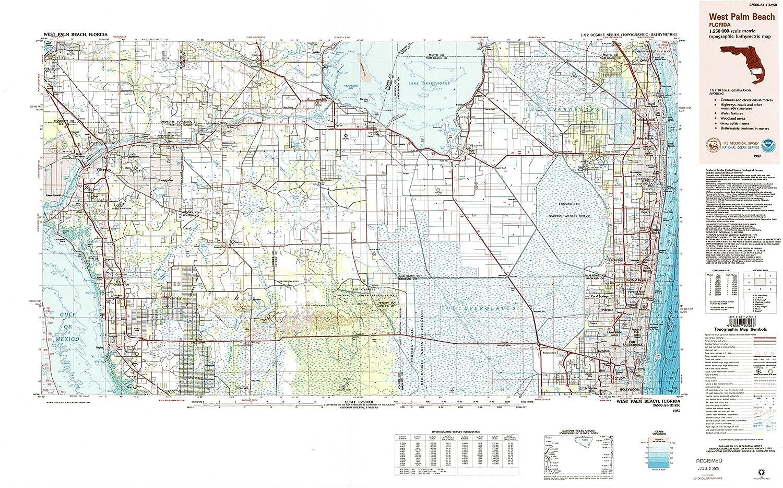 Amazon.com : YellowMaps West Palm Beach FL topo map, 1:250000 Scale ...