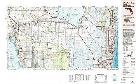 Amazoncom West Palm Beach FL topo map 1250000 scale 1 X 2