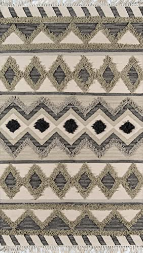Novogratz by Momeni Indio 100 Wool Hand Made Contemporary Area Rug, 3 X 5 , Sage